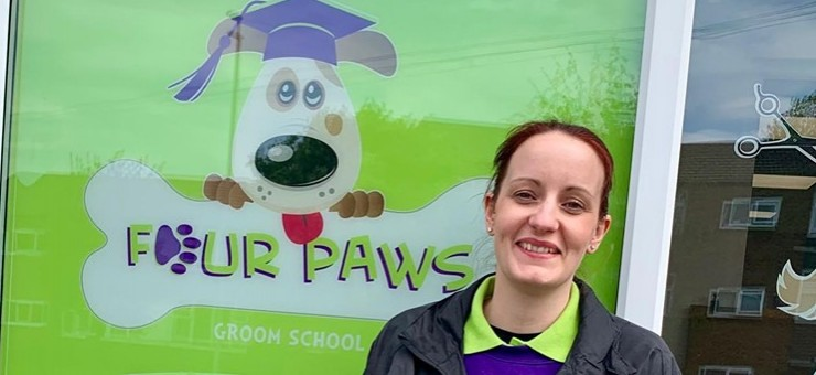 New Tutor at Four Paws Groom School