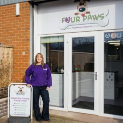 Outside the main reception at Four Paws Cuddington